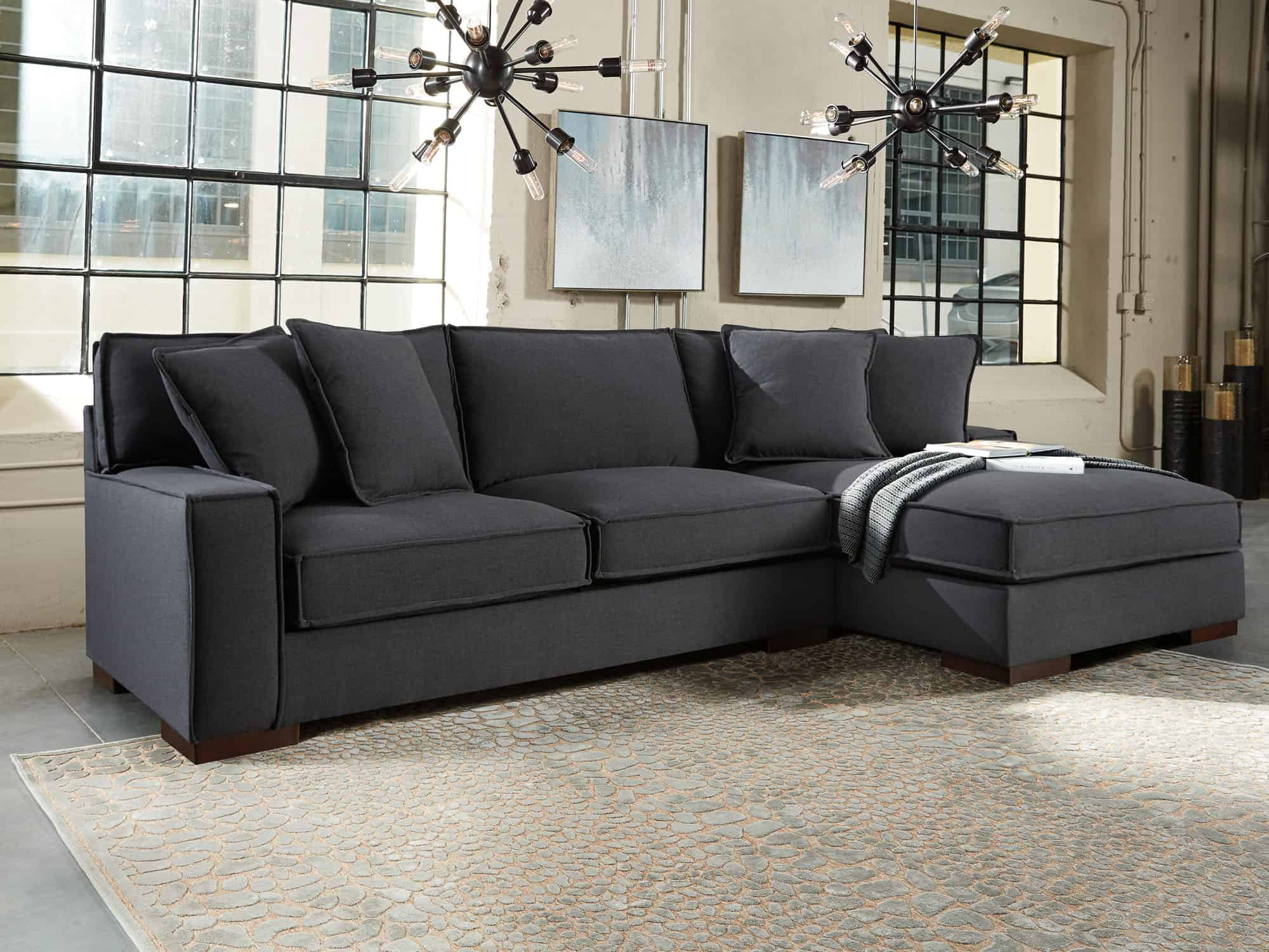 Glamour Corner sofa with chaise