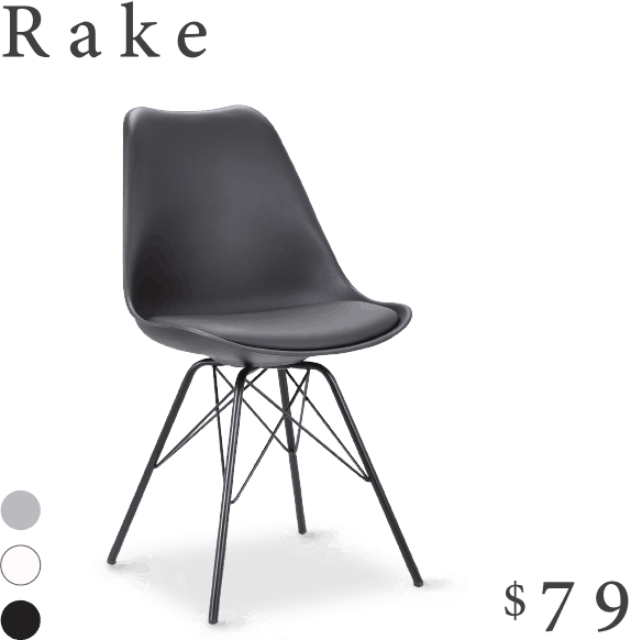 Rake dining chair