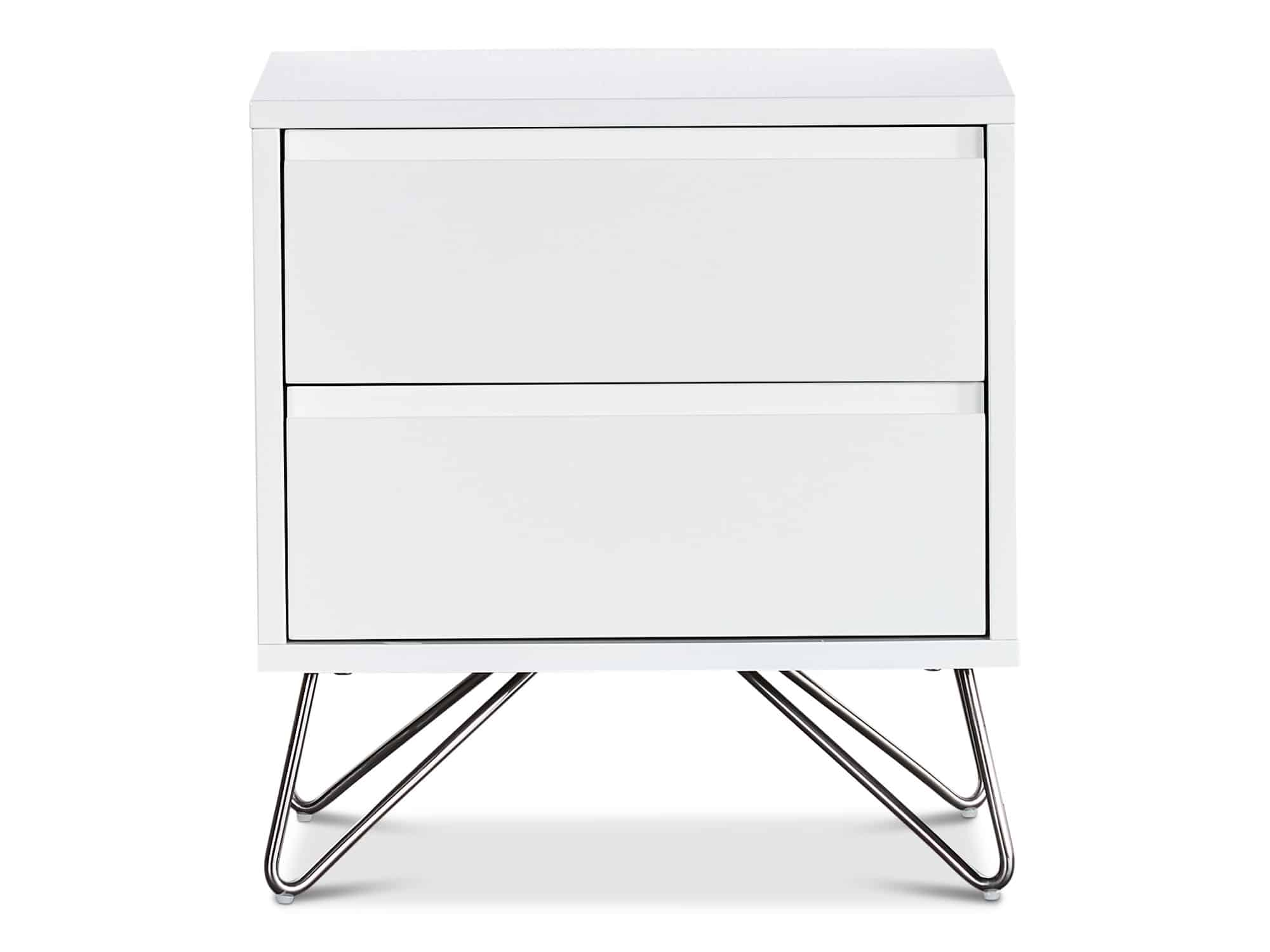 Groove 2 drawer bedside tabel